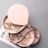 Rotating Storage Box Multi-layers Jewellery Organizer - Pink