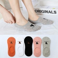 Five Pair Cat Prints Toe Cover Cotton Casual Socks