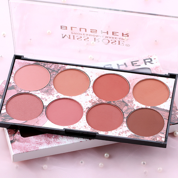 Eight Shades Different Color Face Blush Palette