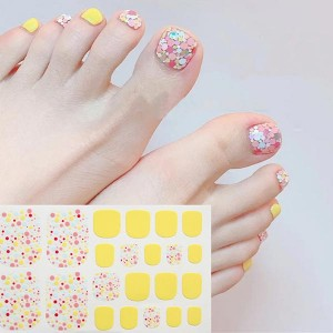 Polka Dots Contrast Fantasy Unicorn Foot Nail Stickers