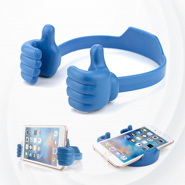 Universal flexible Desktop Stand For Mobile and iPad - Blue