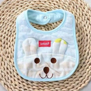 1pcs Newborn Baby Bib Feeding Towels Accessories - Sky Blue