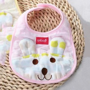 1pcs Newborn Baby Bib Feeding Towels Accessories - Pink