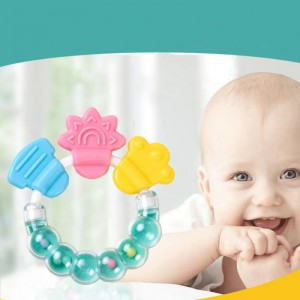 Rattles Teether Toy For Newborn Babies - Multi Color