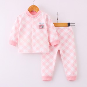 Kids Long Sleeve Dress Set - Pink