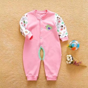 Cute Cotton Printting Baby Romper - Pink