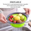 2 pieces Silicone Folding Drain Basket - Green