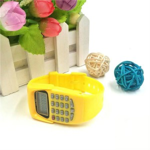 Kids Calculator Electronic Watch - Yellow