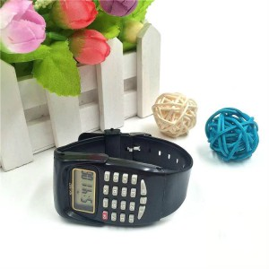 Kids Calculator Electronic Watch - Black