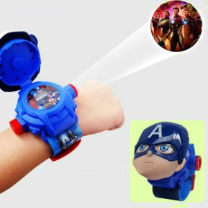 Boys Cartoon Projection Electronic Watch Toys - Blue