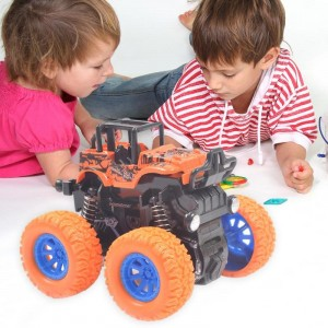 Model Four-Wheel Drive Plastic Kids Toy  - Orange