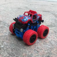 Mini Off-Road Car Model Four-Wheel Drive Plastic Kids Toy - Red