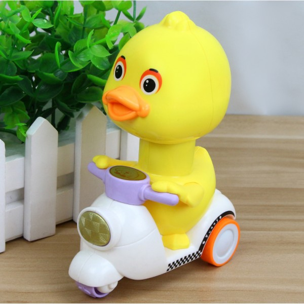 Press-Type Small Yellow Duck Pull Back Toy Car - Yellow