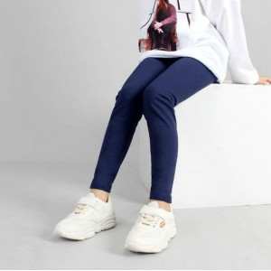 Kids Pants High Stretch Casual Leggings - Blue