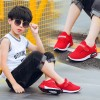 Breathable Solid Color Kids Casual Shoes - Red