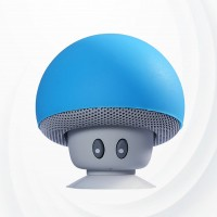 Heavy Bass Mashroom Bluetooth Speaker With Mic - Blue