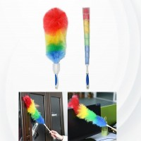 Long Handle Soft Rainbow Colorful Cleaning Dusters Brush - Multi Color