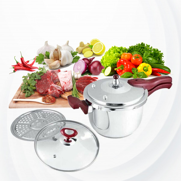 High Quality Stainless Steel Dessini Pressure Cooker - Silver