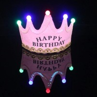 Birthday Party LED Glowing Cap - Pink