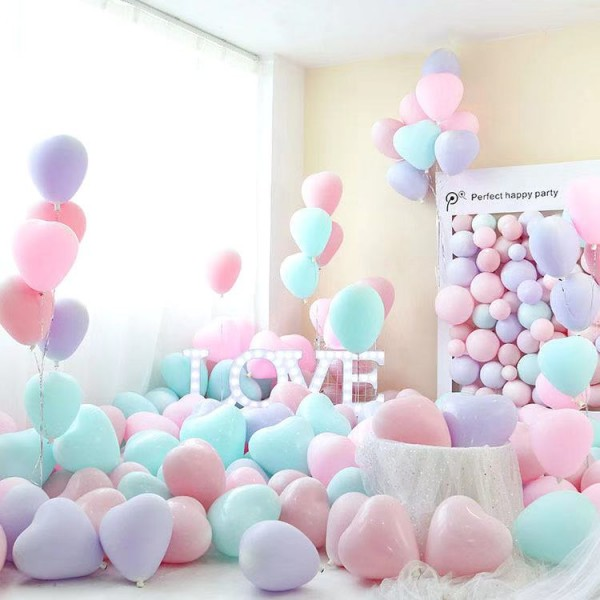 50 pcs 10 Inch Thick Party Balloons Set - Multi Color