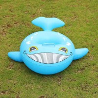 Kids Cartoon Swimming Sitting Ring - Sky Blue