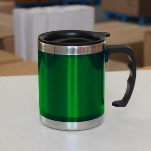 Stainless Steel Travel Mug with Sipper Lid 350ml - Green