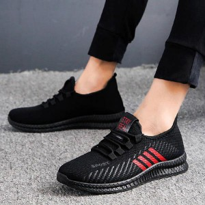 High Quality Mesh Breathable Casual Sneakers - Red Stripes