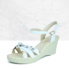 Printed PU Leather Strapped Casual Sandals