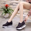 Floral Pattern Hollow Net Thick Bottom Shoes - Black