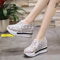 Floral Pattern Casual Wear Women Flats -  White