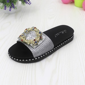 Ringtones Textured Party Wear Rubber Sole Sandals - Silver