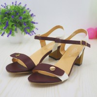 High Heels Strap Closure Party Wear Sandals - Win Red