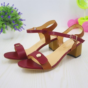 High Heels Strap Closure Party Wear Sandals - Red