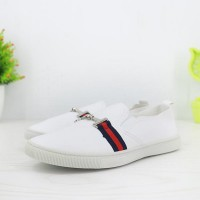 Synthetic Leather Flat Wear Women Fashion Shoes - White