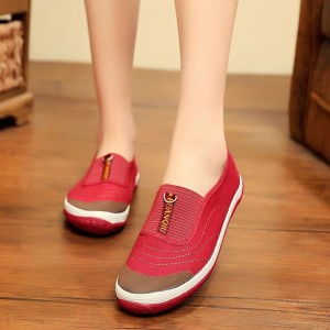 Soft Flat Bottom Non-slip Casual Women Shoes - Red