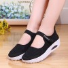 Velcro Breathable Sports Casual Sports Sneakers - Black
