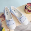 Shallow Mouth Single Strap Flat Shoes - Blue