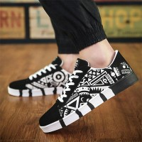 Soft Flat Bottom Shallow Mouth Casual Sneakers - Black