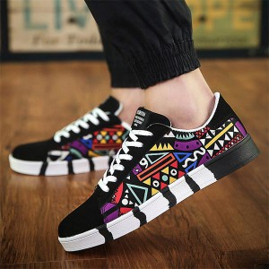 Soft Flat Bottom Shallow Mouth Casual Sneakers - Multi Color