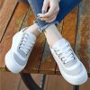Strong Rubber Bottom Laced Sports White Shoes