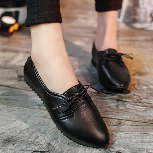 Pointed Formal Office Wear Shoes - Black