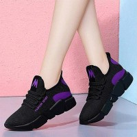 Breathable Non-slip Lace-up Casual Women Sneaker - Black