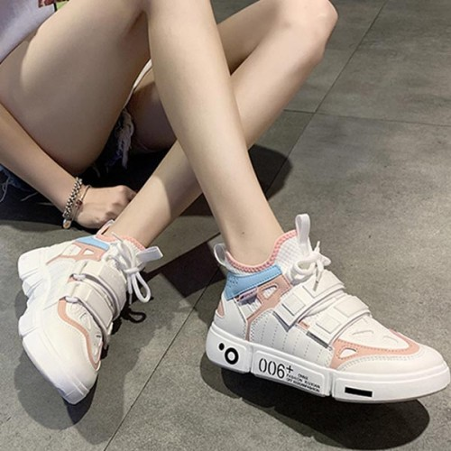 Color Combination Casual Sport Wear Sneakers - Pink