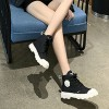 Laced Up Flat Casual Wild Wear Sports Shoes - Black