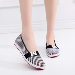 Casual Wear Flat Canvas Women Shoes - Black