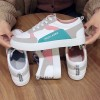 Spring New Single Soft Women Low-heeled Flat Shoes - White Pink