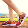 Unisex Casual Fashion Colorful Printing Sneakers Red