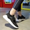 Canvas Lace Up Sports Wear Breathable Sneakers - Black
