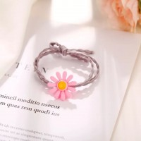 Floral Thread Knotted Fashion Bracelet - Purple