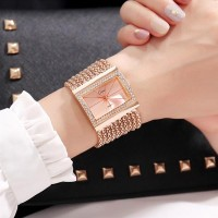 Luxury Ladies Diamond Stone Decorative Watches - Rose Gold